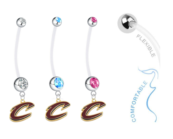 Cleveland Cavaliers Style 2 Boy/Girl Pregnancy Maternity Belly Button Navel Ring