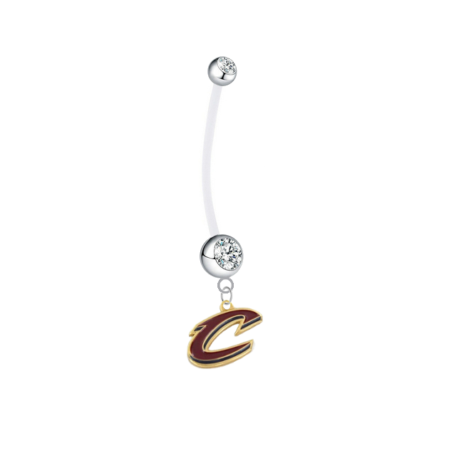 Cleveland Cavaliers Style 2 Boy/Girl Clear Pregnancy Maternity Belly Button Navel Ring