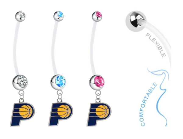 Indiana Pacers Boy/Girl Pregnancy Maternity Belly Button Navel Ring