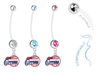 Los Angeles Clippers Boy/Girl Pregnancy Maternity Belly Button Navel Ring