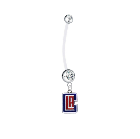 Los Angeles Clippers Style 2 Pregnancy Maternity Clear Belly Button Navel Ring - Pick Your Color