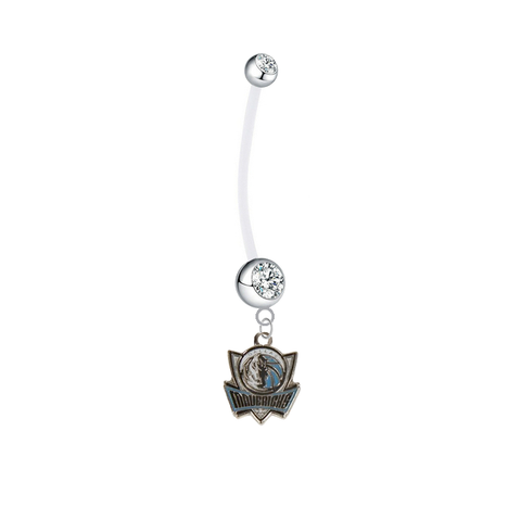 Dallas Mavericks Pregnancy Clear Maternity Belly Button Navel Ring - Pick Your Color