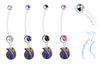 Dallas Mavericks Style 2 Pregnancy Maternity Belly Button Navel Ring - Pick Your Color