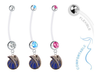 Dallas Mavericks Style 2 Boy/Girl Pregnancy Maternity Belly Button Navel Ring