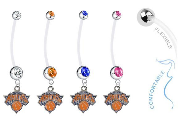 New York Knicks Pregnancy Maternity Belly Button Navel Ring - Pick Your Color