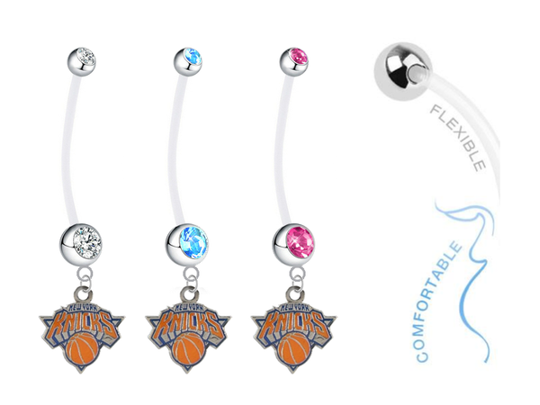 New York Knicks Boy/Girl Pregnancy Maternity Belly Button Navel Ring