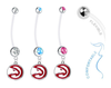 Atlanta Hawks Boy/Girl Pregnancy Maternity Belly Button Navel Ring
