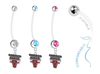 Chicago Bulls Boy/Girl Pregnancy Maternity Belly Button Navel Ring