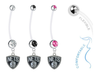 Brooklyn Nets Pregnancy Maternity Belly Button Navel Ring - Pick Your Color