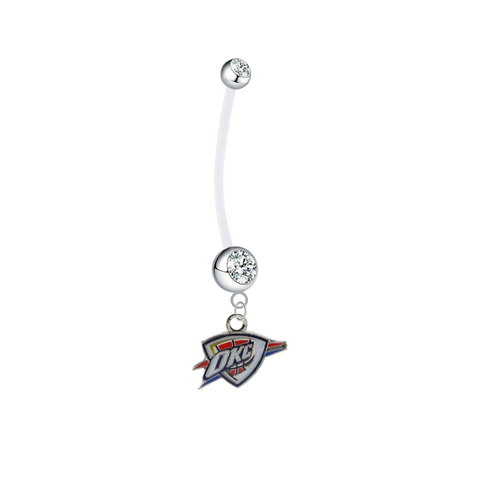 Oklahoma City Thunder Pregnancy Maternity Clear Belly Button Navel Ring - Pick Your Color