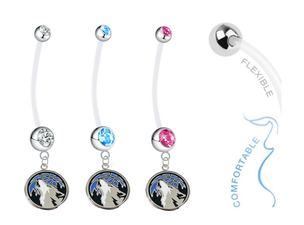 Minnesota Timberwolves Boy/Girl Pregnancy Maternity Belly Button Navel Ring