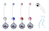 Philadelphia 76ers Pregnancy Maternity Belly Button Navel Ring - Pick Your Color