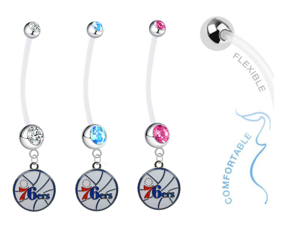 Philadelphia 76ers Boy/Girl Pregnancy Maternity Belly Button Navel Ring