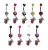 Miami Heat NBA Basketball Belly Button Navel Ring - Pick Your Color