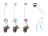 Miami Heat Boy/Girl Pregnancy Maternity Belly Button Navel Ring