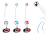 Carolina Hurricanes Boy/Girl Pregnancy Maternity Belly Button Navel Ring
