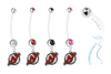 New Jersey Devils Pregnancy Maternity Belly Button Navel Ring - Pick Your Color