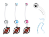 New Jersey Devils Boy/Girl Pregnancy Maternity Belly Button Navel Ring