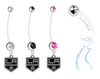 Los Angeles Kings Pregnancy Maternity Belly Button Navel Ring - Pick Your Color