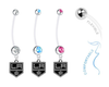 Los Angeles Kings Boy/Girl Pregnancy Maternity Belly Button Navel Ring