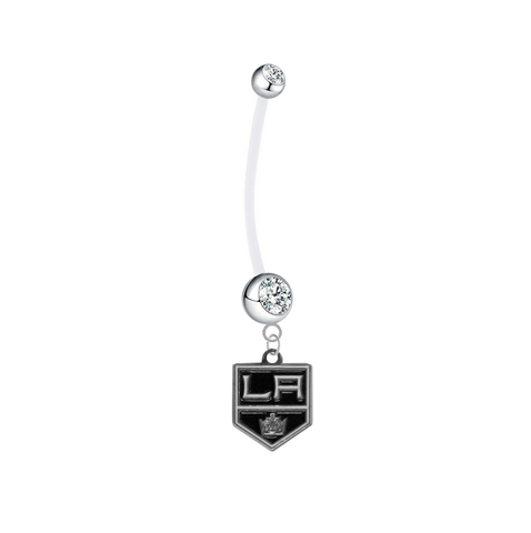 Los Angeles Kings Pregnancy Maternity Clear Belly Button Navel Ring - Pick Your Color