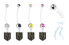 Vegas Golden Knights Pregnancy Maternity Belly Button Navel Ring - Pick Your Color