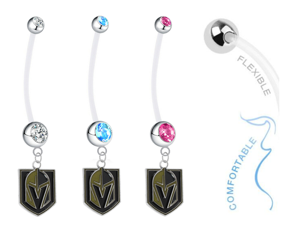Vegas Golden Knights Boy/Girl Pregnancy Maternity Belly Button Navel Ring