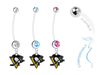 Pittsburgh Penguins Boy/Girl Pregnancy Maternity Belly Button Navel Ring