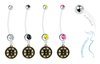 Boston Bruins Pregnancy Maternity Belly Button Navel Ring - Pick Your Color