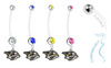 Nashville Predators Pregnancy Maternity Belly Button Navel Ring - Pick Your Color