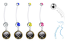 Buffalo Sabres Pregnancy Maternity Belly Button Navel Ring - Pick Your Color
