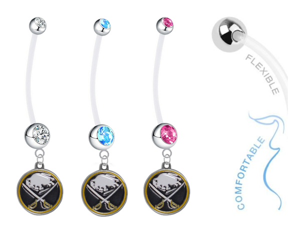 Buffalo Sabres Boy/Girl Pregnancy Maternity Belly Button Navel Ring