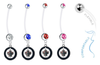 Winnipeg Jets Pregnancy Maternity Belly Button Navel Ring - Pick Your Color