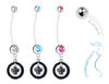 Winnipeg Jets Boy/Girl Pregnancy Maternity Belly Button Navel Ring