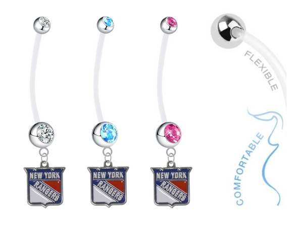 New York Rangers Boy/Girl Pregnancy Maternity Belly Button Navel Ring