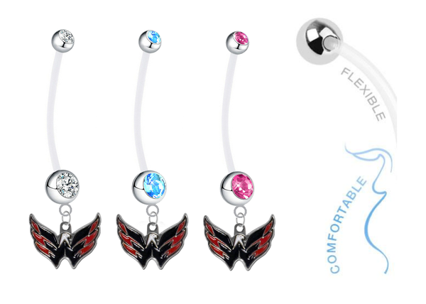 Washington Capitals Boy/Girl Pregnancy Maternity Belly Button Navel Ring