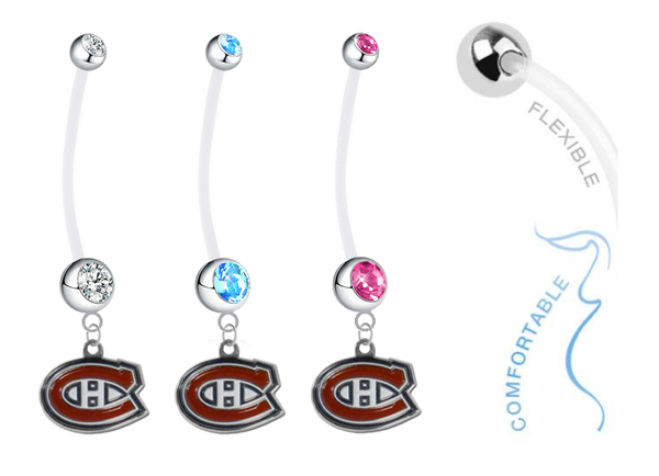 Montreal Canadiens Boy/Girl Pregnancy Maternity Belly Button Navel Ring