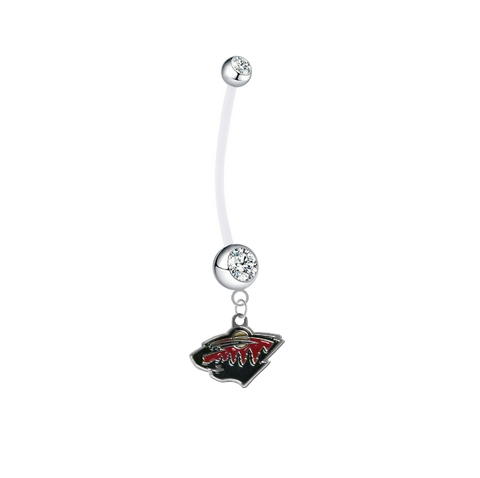 Minnesota Wild Pregnancy Maternity Clear Belly Button Navel Ring - Pick Your Color