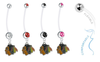 Chicago Blackhawks Pregnancy Maternity Belly Button Navel Ring - Pick Your Color