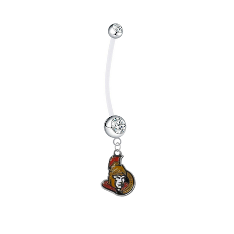 Ottawa Senators Pregnancy Maternity Clear Belly Button Navel Ring - Pick Your Color