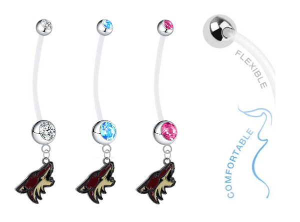 Phoenix Coyotes Boy/Girl Pregnancy Maternity Belly Button Navel Ring