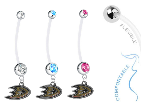 Anaheim Ducks Boy/Girl Pregnancy Maternity Belly Button Navel Ring