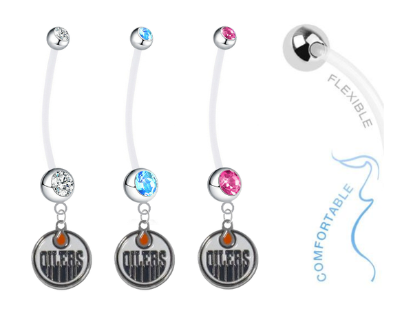 Edmonton Oilers Boy/Girl Pregnancy Maternity Belly Button Navel Ring