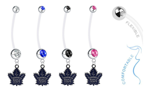 Toronto Maple Leafs Pregnancy Maternity Belly Button Navel Ring - Pick Your Color