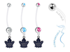 Toronto Maple Leafs Boy/Girl Pregnancy Maternity Belly Button Navel Ring