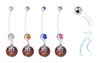 New York Islanders Pregnancy Maternity Belly Button Navel Ring - Pick Your Color