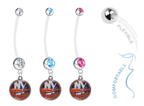 New York Islanders Boy/Girl Pregnancy Maternity Belly Button Navel Ring