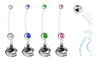 Vancouver Canucks Pregnancy Maternity Belly Button Navel Ring - Pick Your Color
