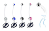 Tampa Bay Lightning Pregnancy Maternity Belly Button Navel Ring - Pick Your Color