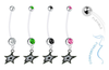 Dallas Stars Pregnancy Maternity Belly Button Navel Ring - Pick Your Color